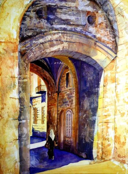 Painting - City Gate by Betty M M Wong