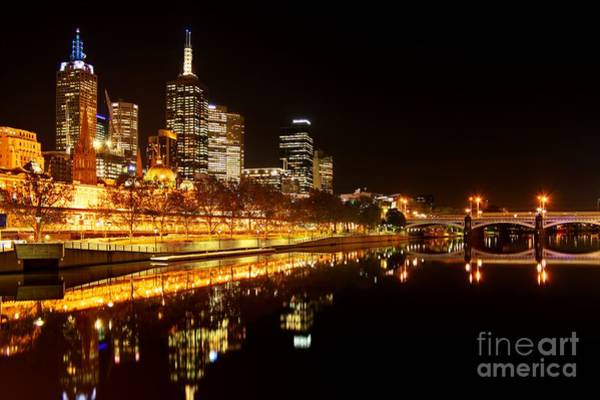 Southbank Photograph - City Glow by Andrew Paranavitana