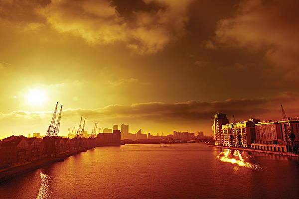 Digital Art - City Gold by David Davies