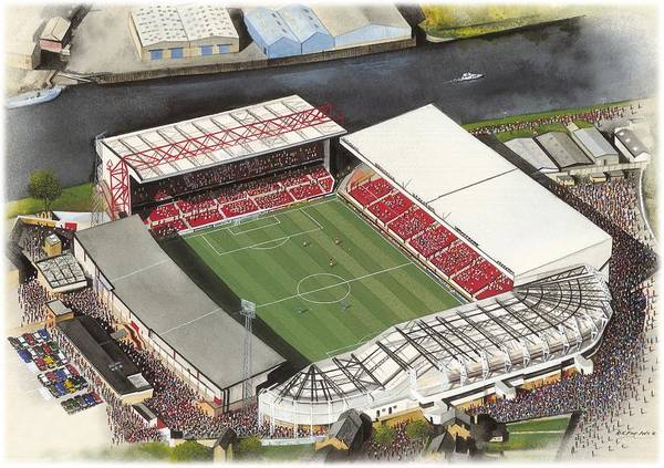 Wall Art - Painting - City Ground - Nottingham Forest by Kevin Fletcher