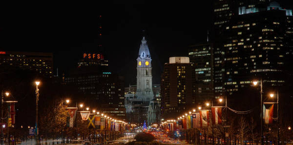 Photograph - City Hall At Night by Jennifer Ancker