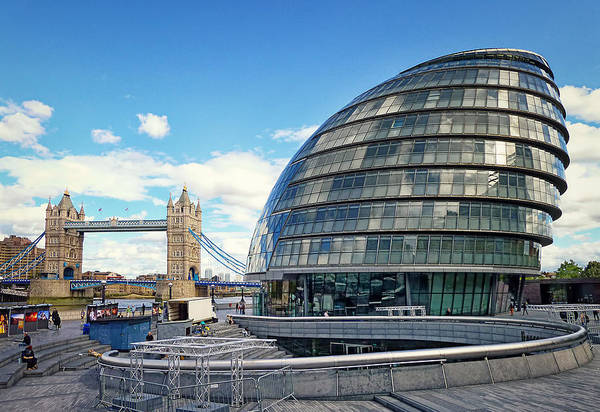 Photograph - City Hall - London by Kim Andelkovic