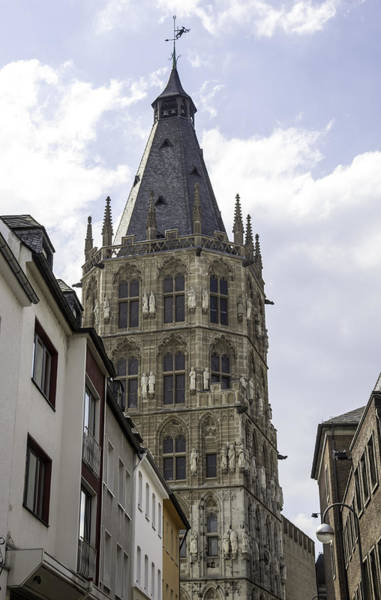 Glockenspiel Photograph - City Hall Tower Cologne Germany by Teresa Mucha