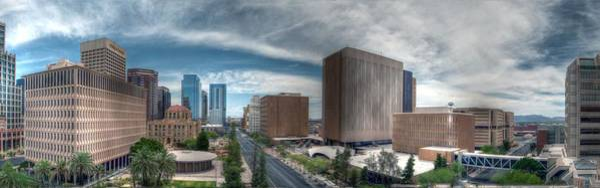 Photograph - Phoenix Buildings Panoramic by Tam Ryan