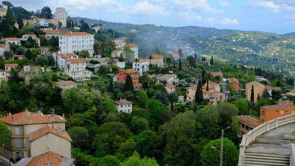 City Hills Of Grasse France Art Print