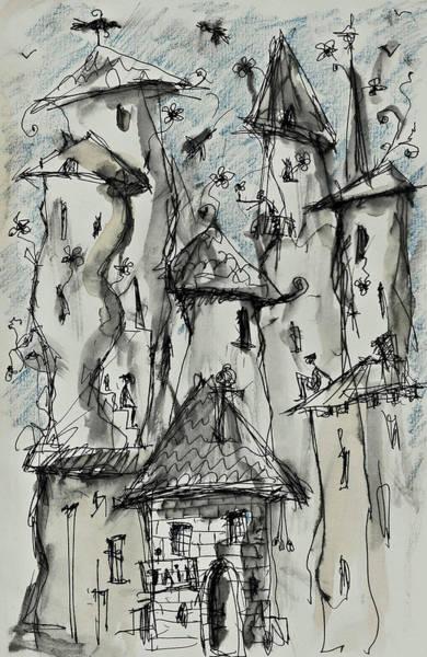 Painting - City Jail by Maxim Komissarchik