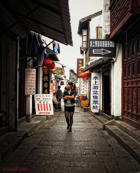 Photograph - City Life In Ancient China by Lucinda Walter