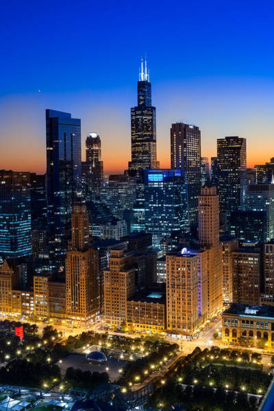Park Avenue Photograph - City Light Chicago by Steve Gadomski
