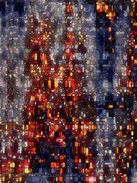 Digital Art - City Lights by David Hansen
