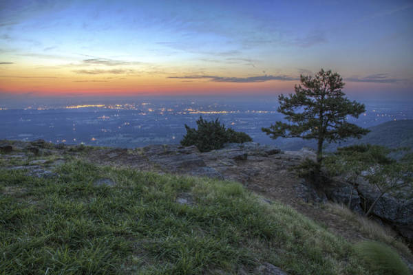 Photograph - City Lights From Sunrise Point At Mt. Nebo - Arkansas by Jason Politte