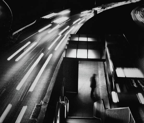 Traffic Wall Art - Photograph - City Lights by Holger Droste