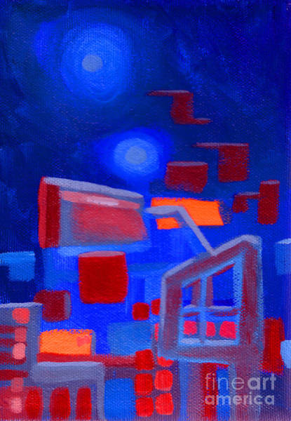 Painting - City Lights by Joey Gonzalez