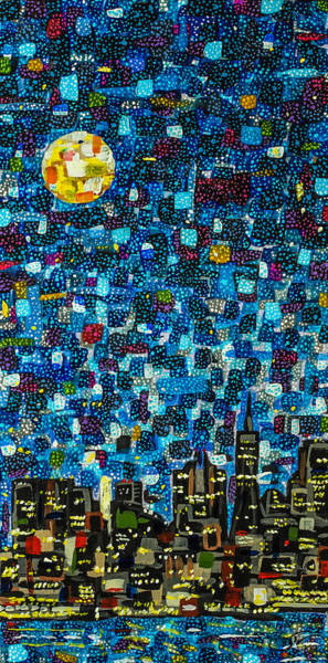 Painting - City Mosaic by Joel Tesch