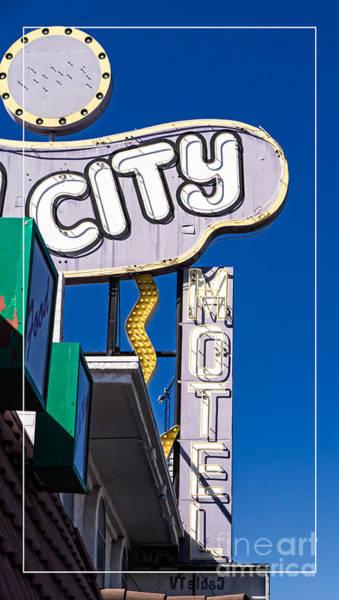 Stratosphere Wall Art - Photograph - City Motel Las Vegas by Edward Fielding