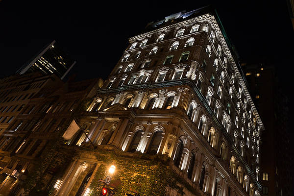 Photograph - City Night Walks - Elegant Arched Lintels by Georgia Mizuleva