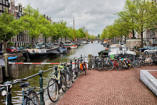 Houseboat Photograph - City Of Amsterdam Canal Waterfront by Artur Bogacki