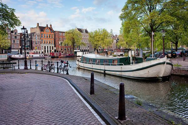 Houseboat Photograph - City Of Amsterdam Cityscape by Artur Bogacki