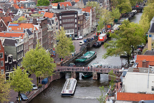 Prinsengracht Photograph - City Of Amsterdam Cityscape From Above by Artur Bogacki