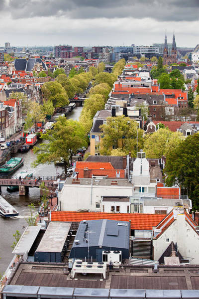 Prinsengracht Photograph - City Of Amsterdam From Above by Artur Bogacki