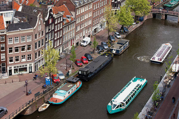 Prinsengracht Photograph - City Of Amsterdam In Holland From Above by Artur Bogacki