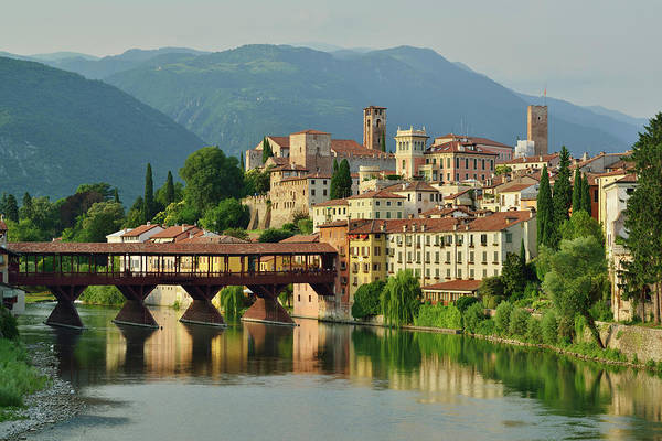 Friuli Photograph - City Of Bassano Del Grappa With Ponte by Andreas Strauss / Look-foto