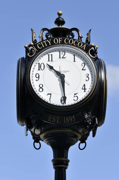 Photograph - City Of Cocoa Street Clock by Bradford Martin
