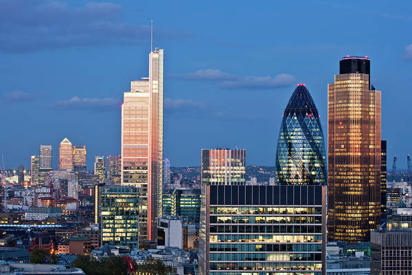 Canary Photograph - City Of London by James Burns