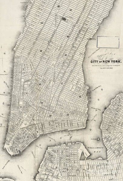 Photograph - City Of New York Circ 1860 by Edward Fielding