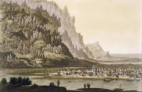 Riverbank Drawing - City Of Yakutsk On The River Lena by Italian School