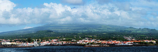 Azores Photograph - City On Island With Pick Mountain by Panoramic Images