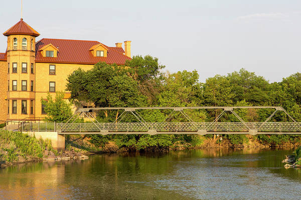 North Dakota Photograph - City Park Footbridge Over The Sheyenne by Chuck Haney