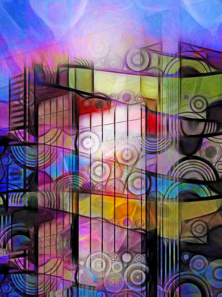 Digital Art - City Patterns 3 by Lutz Baar