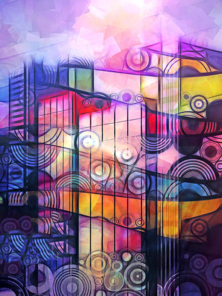 Bright Colorful Mixed Media - Urban Abstract by Lutz Baar