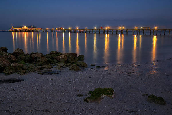 Maria Island Wall Art - Photograph - City Pier At Night by Darylann Leonard Photography