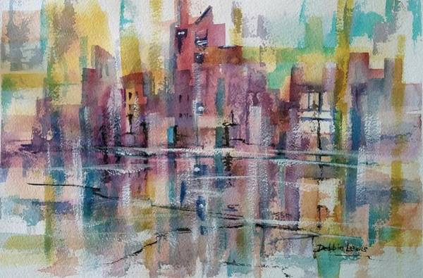 Painting - City Reflections by Debbie Lewis