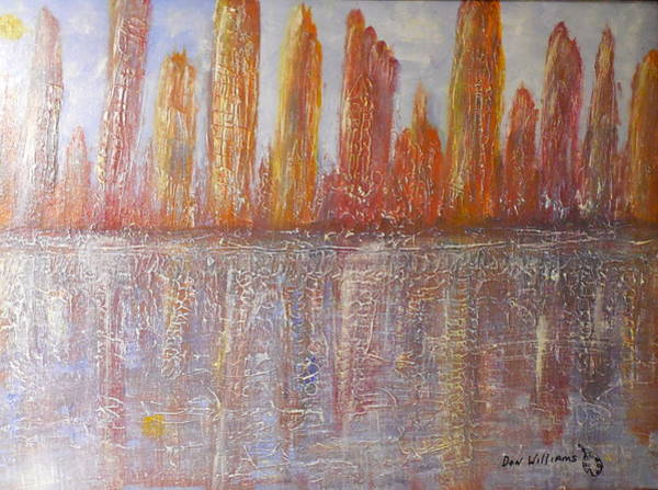 Don Williams Painting - City Reflections by Don Williams