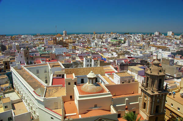 Spain Photograph - City Rooftops From Roof Of Cadiz by Simon Greenwood
