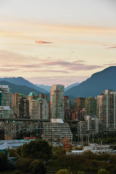 False Creek Wall Art - Photograph - City Skyline At Sunset by Robert Postma / Design Pics