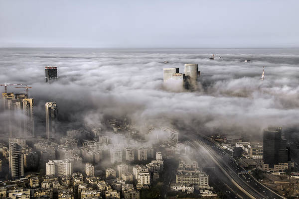 Wall Art - Photograph - City Skyscrapers Above The Clouds by Ron Shoshani