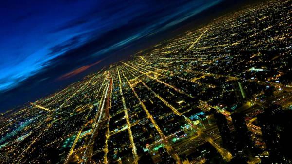 Photograph - City Street Lights Above by Patrick Malon