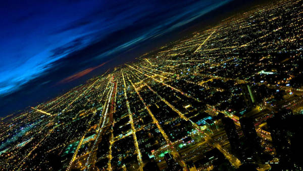 City Street Lights Above Art Print