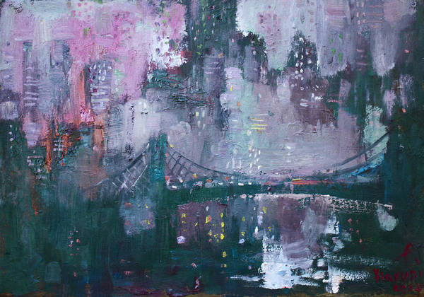 Wall Art - Painting - City That Never Sleeps by Ylli Haruni