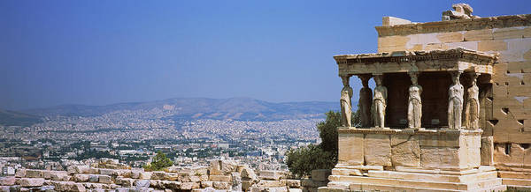 Erechtheion Photograph - City Viewed From A Temple, Erechtheion by Panoramic Images