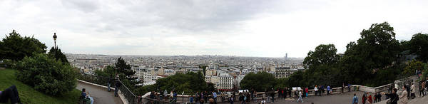 Sacred Heart Photograph - City Viewed From Sacre-coeur Basilica by Panoramic Images