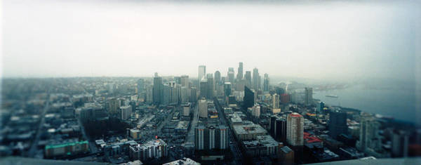 Dreary Photograph - City Viewed From The Space Needle by Panoramic Images