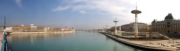Rhone River Photograph - City Viewed From University Bridge by Panoramic Images