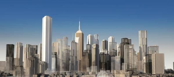Exterior Digital Art - Cityscape, Artwork by Leonello Calvetti