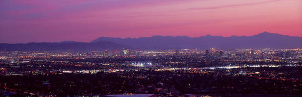 Maricopa Photograph - Cityscape At Sunset, Phoenix, Maricopa by Panoramic Images