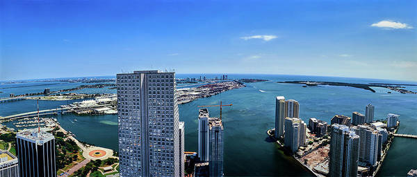 Miami-dade Photograph - Cityscape At The Waterfront, Miami by Panoramic Images