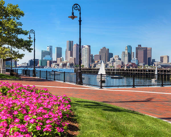 Massachusetts Photograph - Cityscape From The East Boston Piers by Drnadig